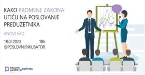 Panel: Kako promene zakona utiču na poslovanje preduzetnika? @ Novi Sad